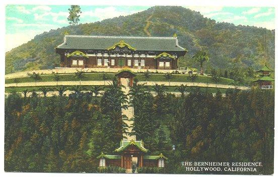 Vintage Town View Postcard Bernheimer House Hollywood California