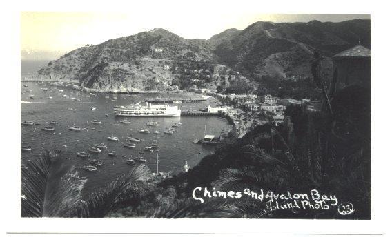Vintage RPPC Chimes and Avalon Bay Island Photo 23 Ship