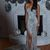 Sheath/Column Sequins Sleeveless Court Train Off-the-Shoulder Dresses M11594