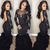 Amazing Black Mermaid Pleated With Appliques Long Sleeves See Through Backless
