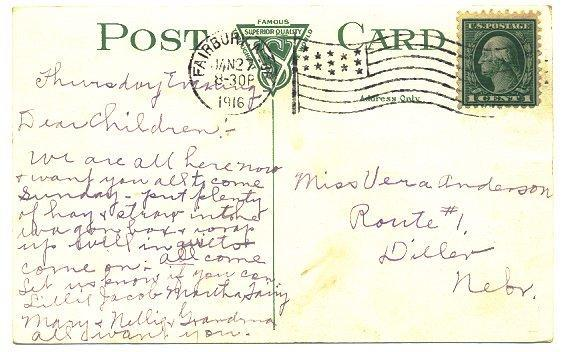Lincoln Nebraska Vintage 1910s Town View Postcard St Elizabeth Hospital