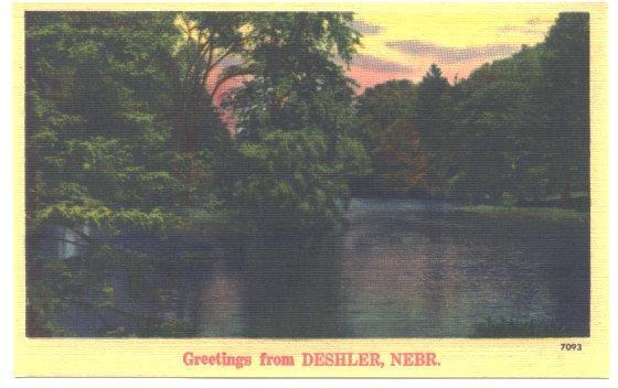 Vintage Postcard GREETINGS FROM DESHLER NEBRASKA