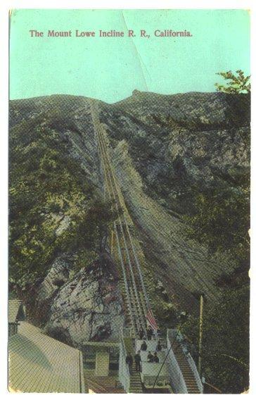 Vintage 1910s Postcard Mount Lowe Incline Railroad California