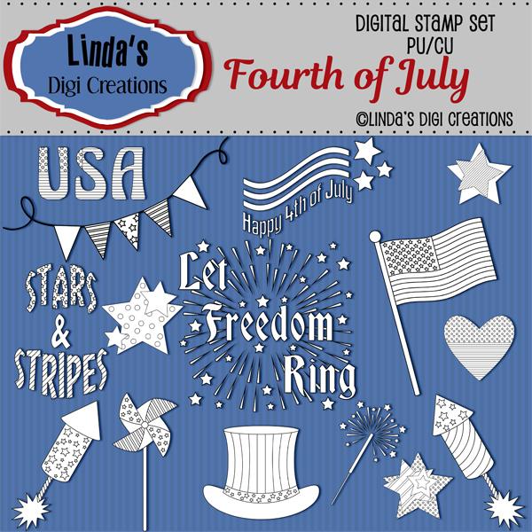 Fourth Of July_Digital Stamp Set