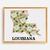 Louisiana State Counted Cross Stitch Pattern Magnolia flower cross stitch