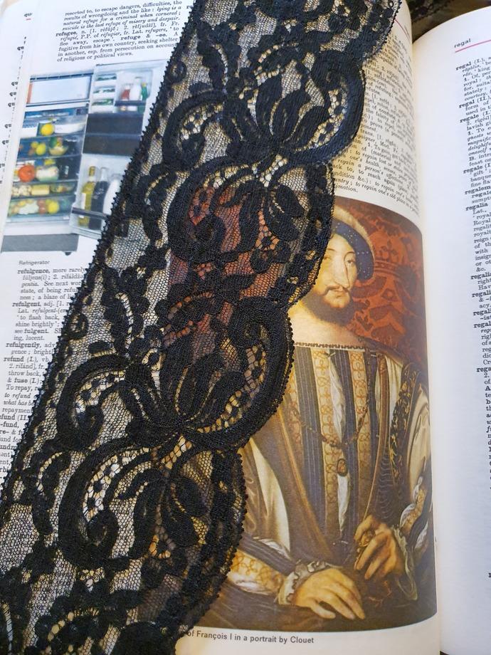 Wide black lace