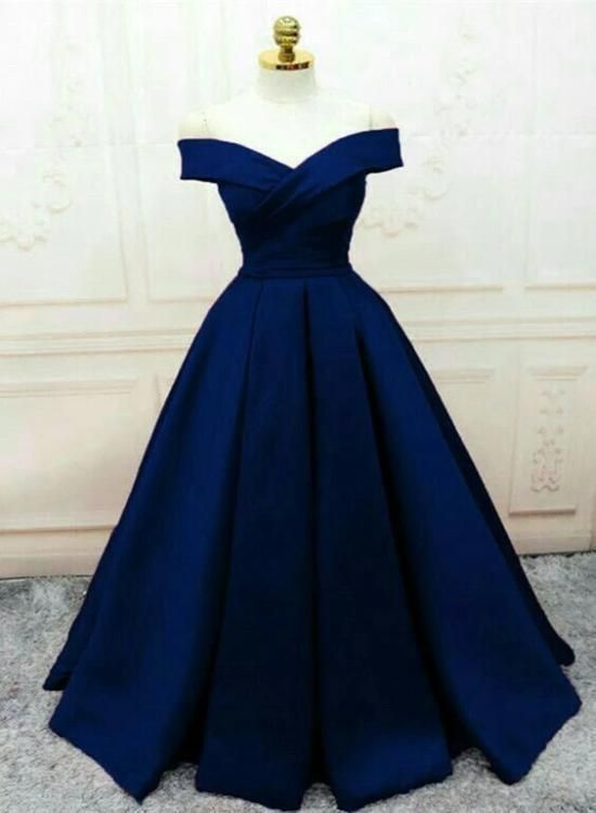 Fashionable Navy Blue Party Gown  M11605