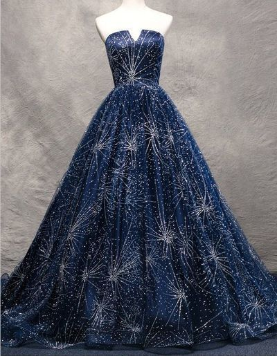 Dark Blue Off-Shoulder Heavy Full Beading Ball Gown Sexy High Quality Evening