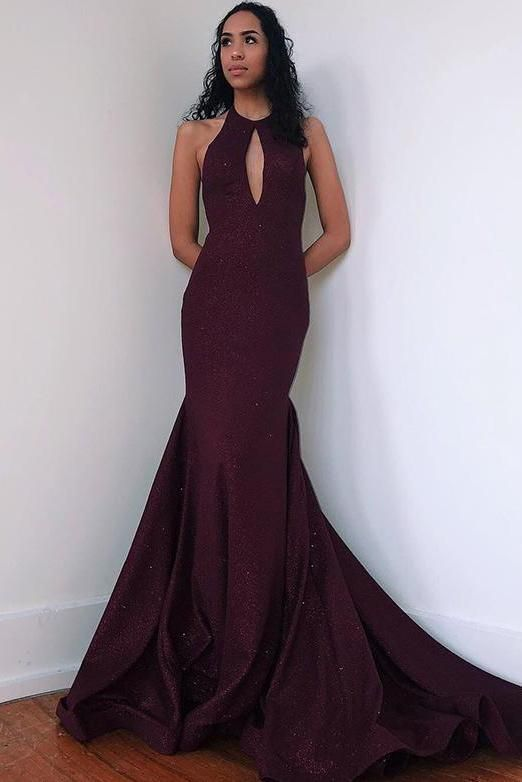 Halter A-Line prom dress, Long Prom Dress M11631