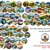 Set of 63 National parks Modern Cross Stitch Pattern, nature, instant download