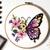 Set of 10 floral butterflies Modern Cross Stitch Pattern, nature, flowers,