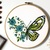 Set 2 of 10 Butterflies Floral Modern Cross Stitch Pattern, insects, Instant