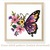 Butterfly floral Modern Cross Stitch Pattern, flowers, insects, instant