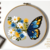 Butterfly floral Modern Cross Stitch Pattern, flowers, insects, instant download
