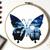 Butterfly Modern Cross Stitch Pattern, landscape, night sky, insects, instant