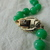 vintage Hobe signed green Peking glass beads necklace