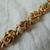 vintage Goldette signed Victorian charms bracelet stones crystals