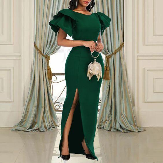 green evening dresses long mermaid simple elegant cheap formal party dresses