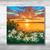 Beautiful sunset   original acrylic painting   landscape painting  