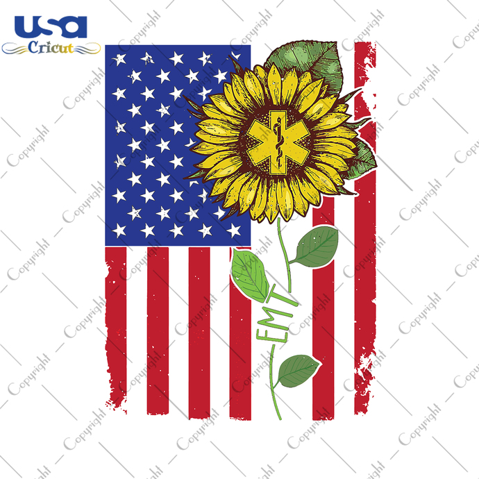 Sunflower Svg, Independence Day, Flag Day Svg, Freedom Day, America Flag, Since