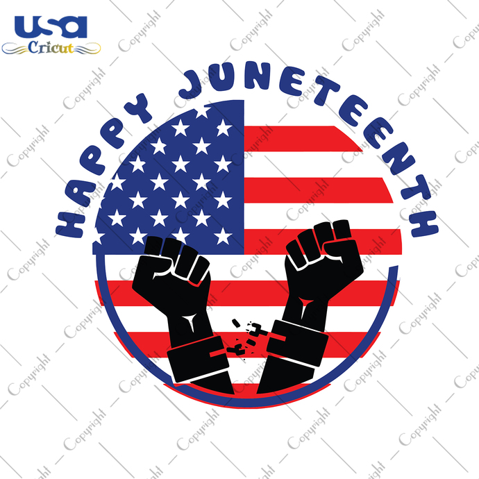 Happy Juneteenth Svg, Independence Day, Flag Day Svg, Freedom Day, America Flag,