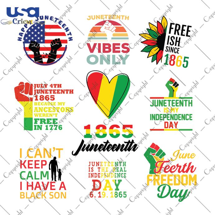 Bundle Juneteenth Svg, Independence Day, Juneteenth Svg, Juneteenth Gift, Flag