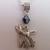 Silver Plate Black Ab Crystal Anubis Jackal God Egyptian Heiroglyph Necklace