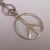 Black Leather Silver Plate Triple Peace Sign Long Pendant Necklace