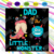Dad Of The Little Monster Svg, Family Svg, Dad Svg, Little Monster Svg, Little