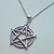 Silver Plate Fancy Pentagram Pentacle Necklace Handmade Jewelry Wicca Pagan New