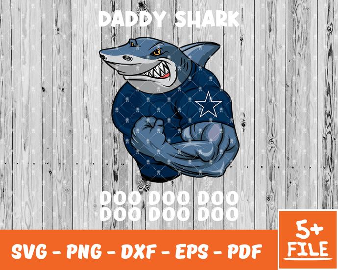 Logo Dallas Cowboys, Dallas Cowboys, Dallas Cowboys SVG, Daddy Shark Svg