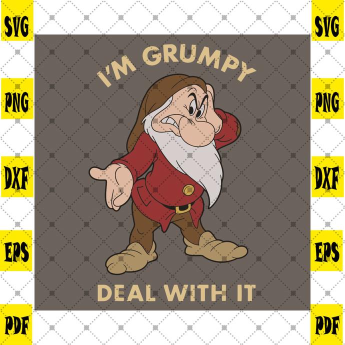 I am Grumpy Deal With It Svg, Trending Svg, Dwarfs Svg, Grumpy Dwarfs Svg, Snow