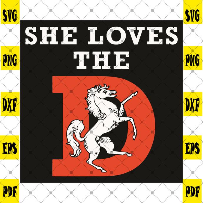 She Loves The D Svg, Trending Svg, Denver Svg, Denver City Svg, Horse Svg, White