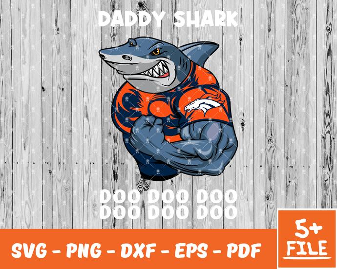 Denver Broncos svg, Denver Broncos bundle svg, Denver Broncos logo, Daddy Shark