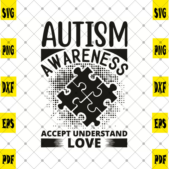 Autism Awareness Accept Understand Love Svg, Trending Svg, Autism Svg, Autism