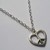 Silver Plate Peace Sign Heart Necklace Retro Hippy 60s Gift