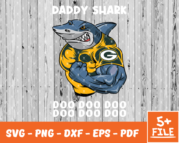 Green Bay Packers SVG, Png, Eps, Dxf, Logo Green Bay Packers, Daddy Shark Svg