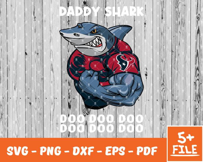 Houston Texans Logo Png Bundle, Houston Texans Nfl Team Logo, Daddy Shark Svg