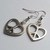 Silver Plate Peace Sign CND Heart Dangle Earrings Retro Hippy 60s Gift