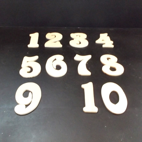 Wedding Table Numbers 1-20 Unfinished Wood Style 4 Stk No TN-4-.18-3-20