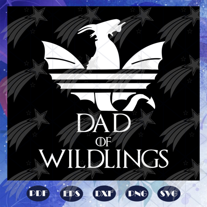 Dad of wildlings, fathers day svg, father svg, fathers day gift, gift for papa,