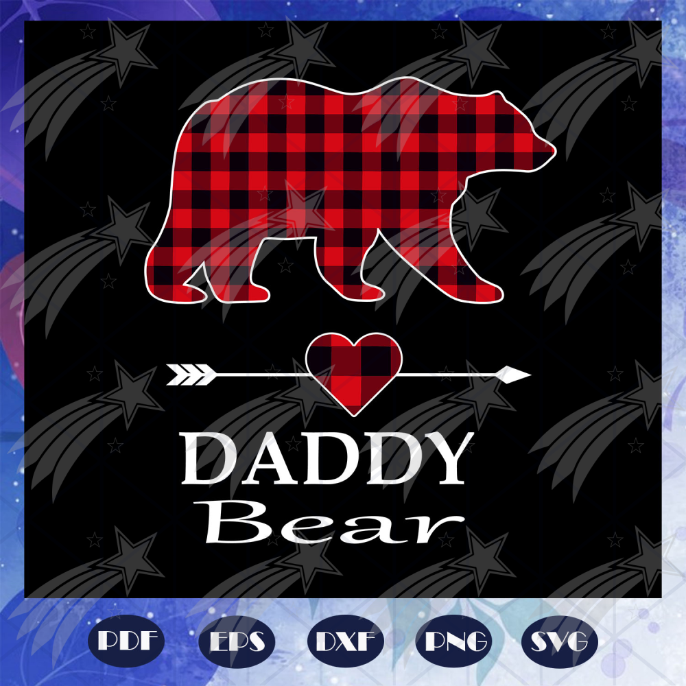 Daddy bear svg, fathers day svg, fathers day gift, gift for papa, fathers day