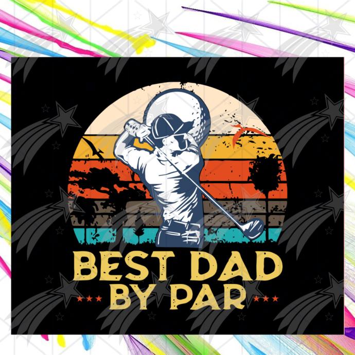 Best dad by par shirt svg, golf best dad by par vintage svg, Fathers day svg,