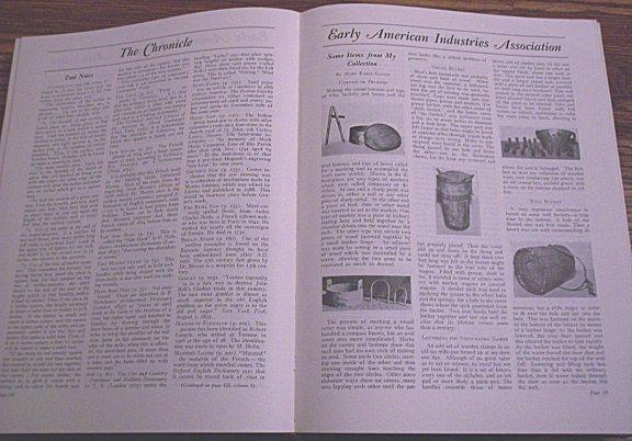 Chronicle Early American Industries Association 1933-58 Bound Newsletters