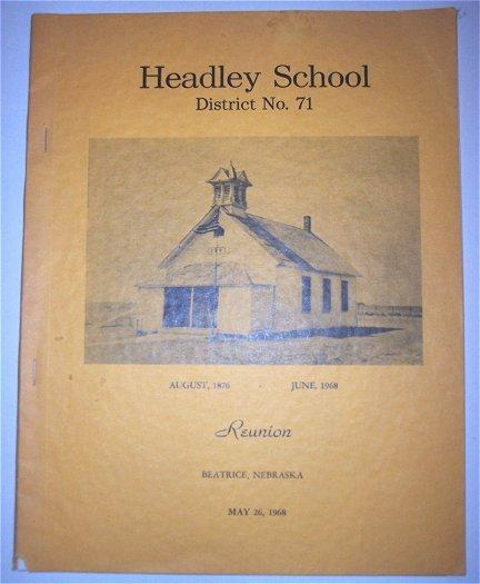 Beatrice Nebraska History 1968 Headley School Reunion Book