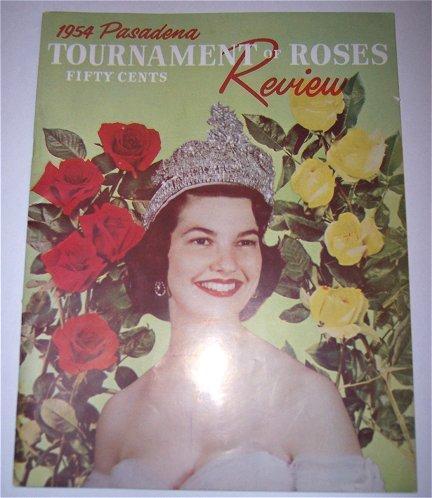 Pasadena California 1954 Tournament of Roses Football Program