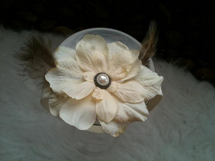 Newborn Headband - Crema