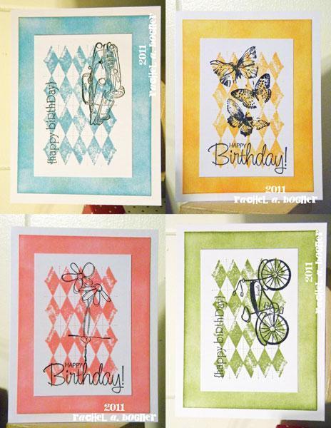 Set of 4 Birthday Cards (1)
