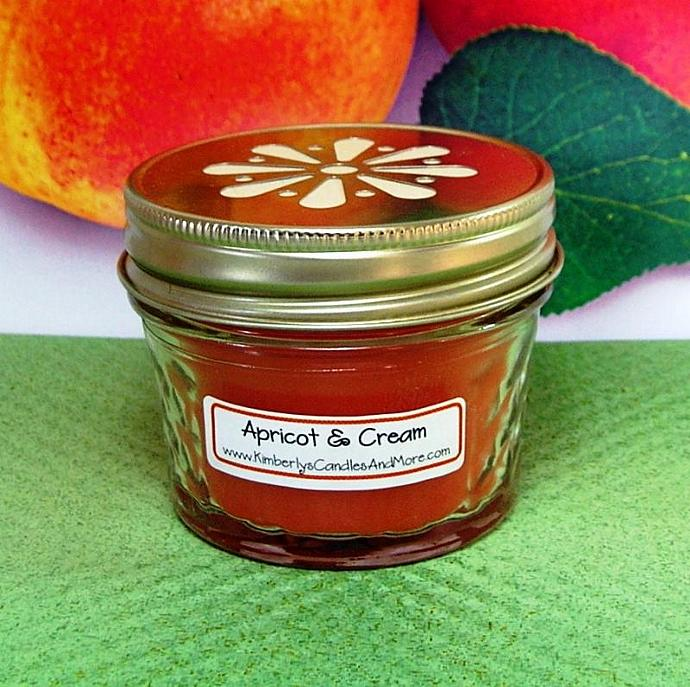 Apricot and Cream PURE SOY 4 oz. Jelly Jar Candle