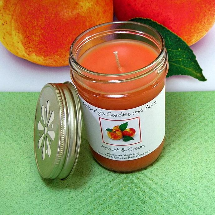 Apricot and Cream PURE SOY Jelly Jar Candle